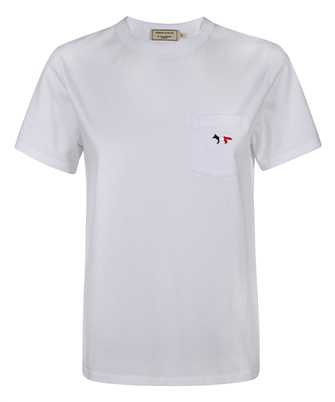 Maison Kitsune FW00107KJ0010 TRICOLOR FOX PATCH CLASSIC POCKET T-Shirt