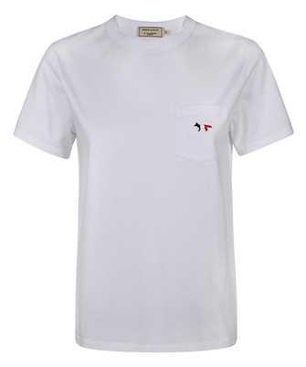 Maison Kitsune FW00107KJ0010 TRICOLOR FOX PATCH CLASSIC POCKET T-shirt