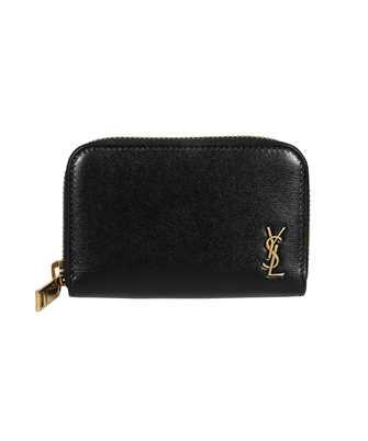Saint Laurent 607765 02G0W TINY MONOGRAM COIN CARD Wallet