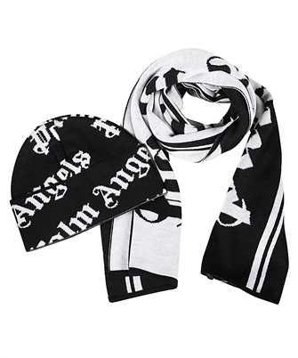 Palm Angels PMZG016F20KNI003 CLASSIC LOGO SET Scarf/Beanie