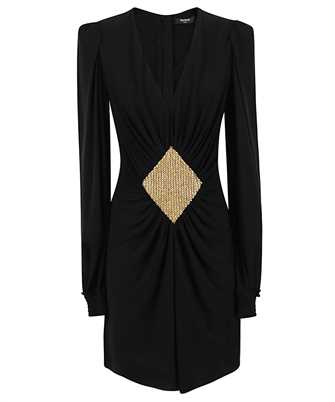 Balmain UF06298J020 GATHERED JERSEY Dress