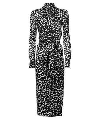 Tom Ford AB2992 FAP126 IKAT LEOPARD PRINT MIDI BELTED Dress