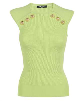 Balmain VF0AL000K211 GOLD-TONE BUTTONS KNIT Top