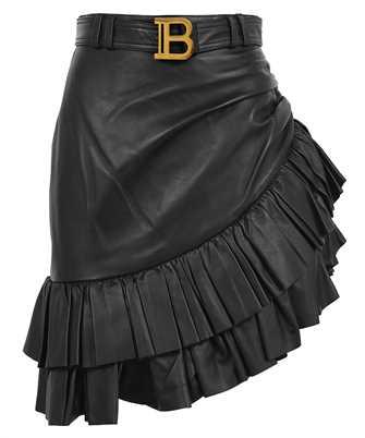 Balmain VF14315L062 ASYMMETRICAL HIGH-WAISTED Skirt