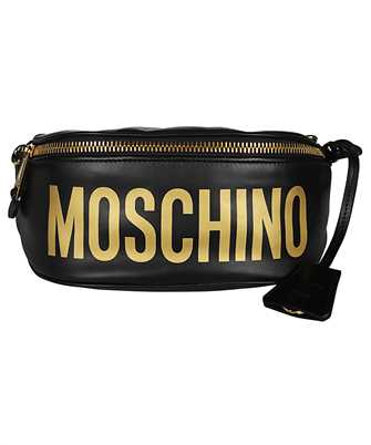 Moschino 7712 8001 LEATHER LOGO Belt bag