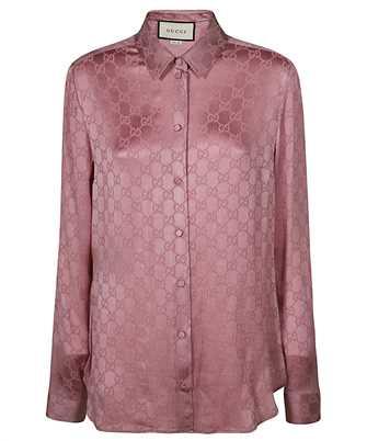 Gucci 627773 ZAEJF GG CREPE Shirt