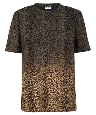 Saint Laurent 653937 Y36DD TIE-DYE LEOPARD-PRINT T-shirt