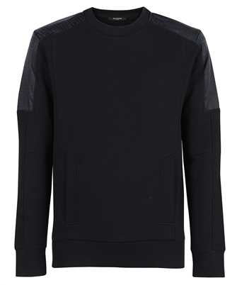 Balmain WH1JQ050271J MIXED FLEECE & MONOGRAM NYLON Sweatshirt