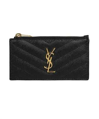 Saint Laurent 607915 BOW01 MONOGRAM FRAGMENTS ZIP Card holder