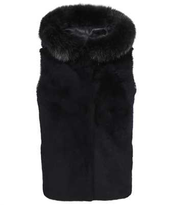Karl Donoghue CMFHGW1 CASHMERE TOUCH SHEARLING & FOX FUR HOODED Gilet