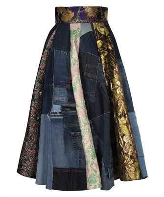 Dolce & Gabbana F4B2PD GDY73 PATCHWORK JACQUARD MINI Skirt