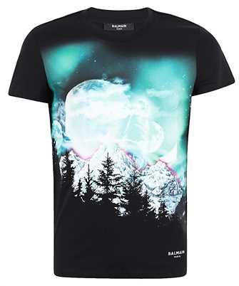 Balmain UH11601I305 PRINTED DESIGN T-shirt