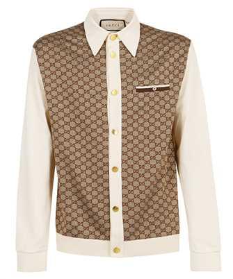Gucci 655436 XJDGE GG JACQUARD SILK COTTON JERSEY Polo