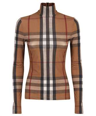 Burberry 8043429 CHECK STRETCH JERSEY TURTLENECK Top