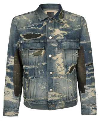 Givenchy BM00RW5Y1B DESTROYED DENIM AND MOLESKIN Jacket