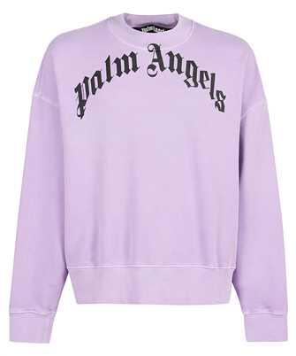 Palm Angels PMBA026F21FLE004 GD CURVED LOGO CREW Sweatshirt