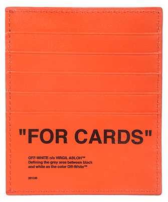 Off-White OMND005F19F56035 BOLD QUOTE Card holder