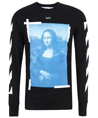 Off-White OMAB001R21JER002 BLUE MONALISA T-Shirt