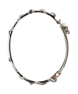 Alexander McQueen 663851 J160Y SKULL SAFETY PIN Bracelet