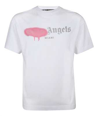 Palm Angels PMAA001F20JER013 MIAMI SPRAYED LOGO T-shirt