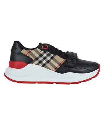 Burberry 8038184 LEATHER AND VINTAGE CHECK COTTON Sneakers