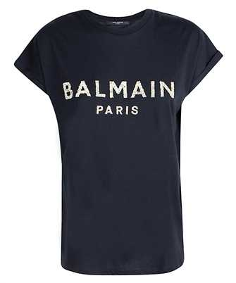 Balmain UF11351I509 SEQUINED LOGO T-shirt