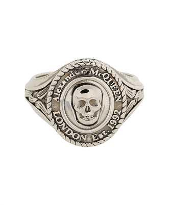 Alexander McQueen 669950 J160Y MEDALLION SKULL SIGNET Ring