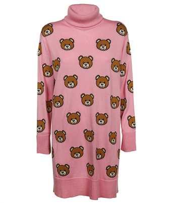 Moschino A 0482 5508 ALLOVER TEDDY BEAR KNIT Dress