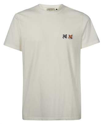 Maison Kitsune BU00103KJ0008 DOUBLE FOX HEAD PATCH T-Shirt