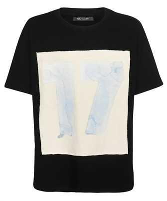 Nahmias 17PATCH BLACK/BLUE 17 WATER COLOR PATCH T-shirt