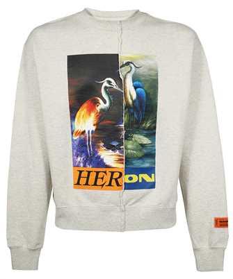 Heron Preston HMBA018F21JER002 SPLIT GRAPHIC Sweatshirt