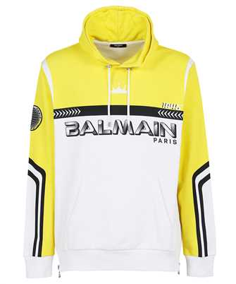 Balmain WH1JT000G084 OVERSIZED ALLOVER PRINTED Hoodie