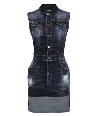 Dsquared2 S72CV0217 S30708 TRIPLE-X CUFF DENIM Dress