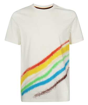 Paul Smith M1R 697P FP2693 SPRAY STRIPE PRINT T-shirt