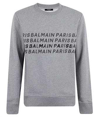 Balmain UH03277I381 GREY LOGOS Sweatshirt