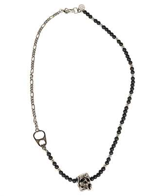 Alexander McQueen 650932 I12ZY BEADS AND SKULL SHORT Necklace