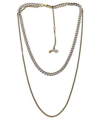 Alexander McQueen 663702 J160K DOUBLE CHAIN Necklace