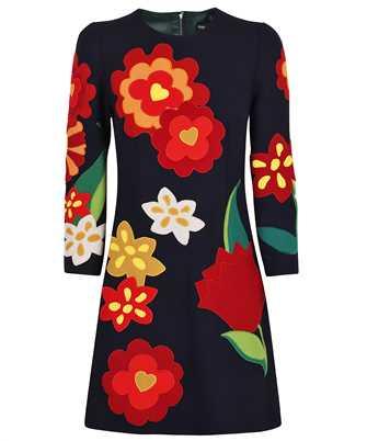 Dolce & Gabbana F6Q4ZZ FU2TZ SHORT FLORAL PATCH CREPE Dress