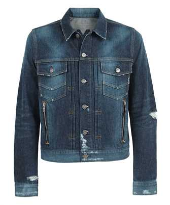 Balmain VH0TC015017D PRINTED DENIM Jacket