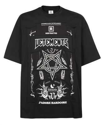 Vetements UA52TR680B HARDCORE PATCHED LOGO T-shirt