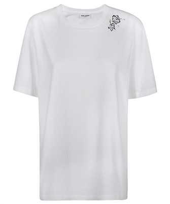Saint Laurent 645948 Y36CW TROPICAL FLOWER T-shirt