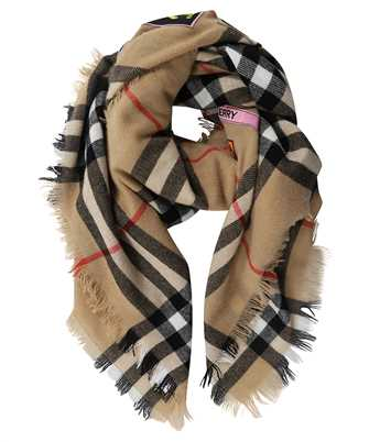 Burberry 8039430 LOGO GRAPHIC CHECK CASHMERE LARGE SQUARE Scarf