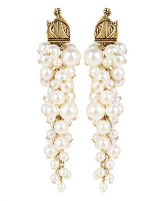 Lanvin AW CJYA0Y PERL A21 MOTHER & DAUGHTER LONG PEARLS Earrings