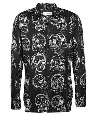 Alexander McQueen 630549 QPO42 PAINTED SKULL PRINT Shirt