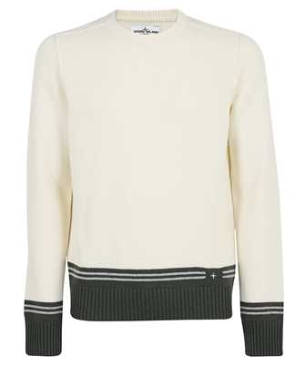 Stone Island 573B8 LAMBSWOOL WITH STRIPED MOTIF AND EMBROIDERY Knit
