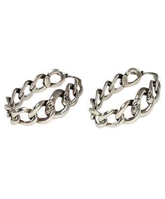 Alexander McQueen 650456 J160Y CHAIN AND SKULL HOOP Earrings