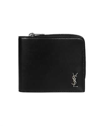 Saint Laurent 644587 1JB0E TINY MONOGRAM ZIP AROUND Wallet
