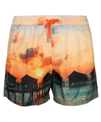 Paul Smith M1A 239P F40989 FLOATING HUTS PRINT Swim shorts