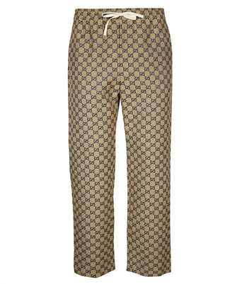 Gucci 658090-Z8AOV GG CANVAS WITH LEATHER INTERLOCKING G Trousers
