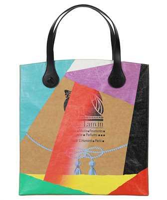 Lanvin LM BGNC00 KDGD E21 PRINTED KRAFT PAPER GROCERY Bag